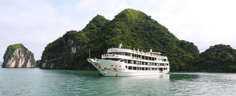 LUXURY  BAI TU LONG BAY  2 DAYS - 1 NIGHT TOUR SLEEP ON 5 STAR CRUISE 5