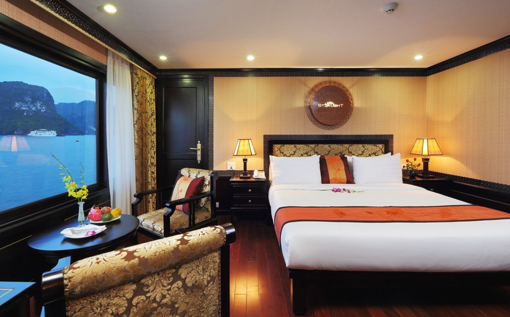 LUXURY  BAI TU LONG BAY  2 DAYS - 1 NIGHT TOUR SLEEP ON 5 STAR CRUISE 11
