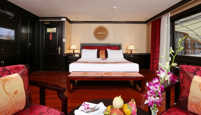 LUXURY  BAI TU LONG BAY  2 DAYS - 1 NIGHT TOUR SLEEP ON 5 STAR CRUISE 12